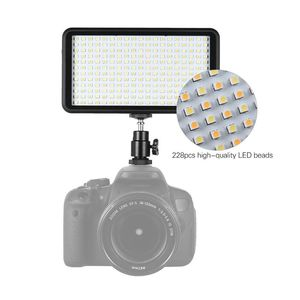 Image 5 - Sıcak 3C Ultra thin 3200 K/6000 K kısılabilir stüdyo Video fotoğrafçılığı led ışık panel lambası 228 adet boncuk Canon Nikon DSLR için kamera DV