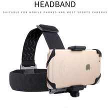 Head band Holder for Smartphone Outdoor Head Strap Belt Mount Tripod Clip for DJI Osmo Gopro xiaoyi sony for iPhone 11 Pro Max