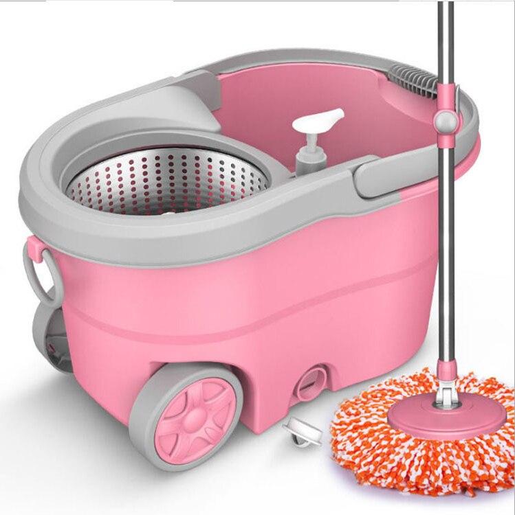 Швабра с ведром без рук, Волшебная круглая Бытовая система очистки плитки, чистящие инструменты, вращающиеся чистящие инструменты