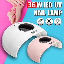 UV LED Lamp Nails Dryer 36W Ice Lamp For Manicure Gel Varnish Nail Lamp Drying Dryer Machine Nail Polish Portable Manicure Tools