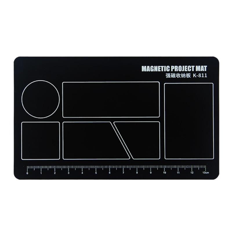 150*90mm Magnetic Screw Pad Mobile Phone Repair Work Mat Adsorption of Screw