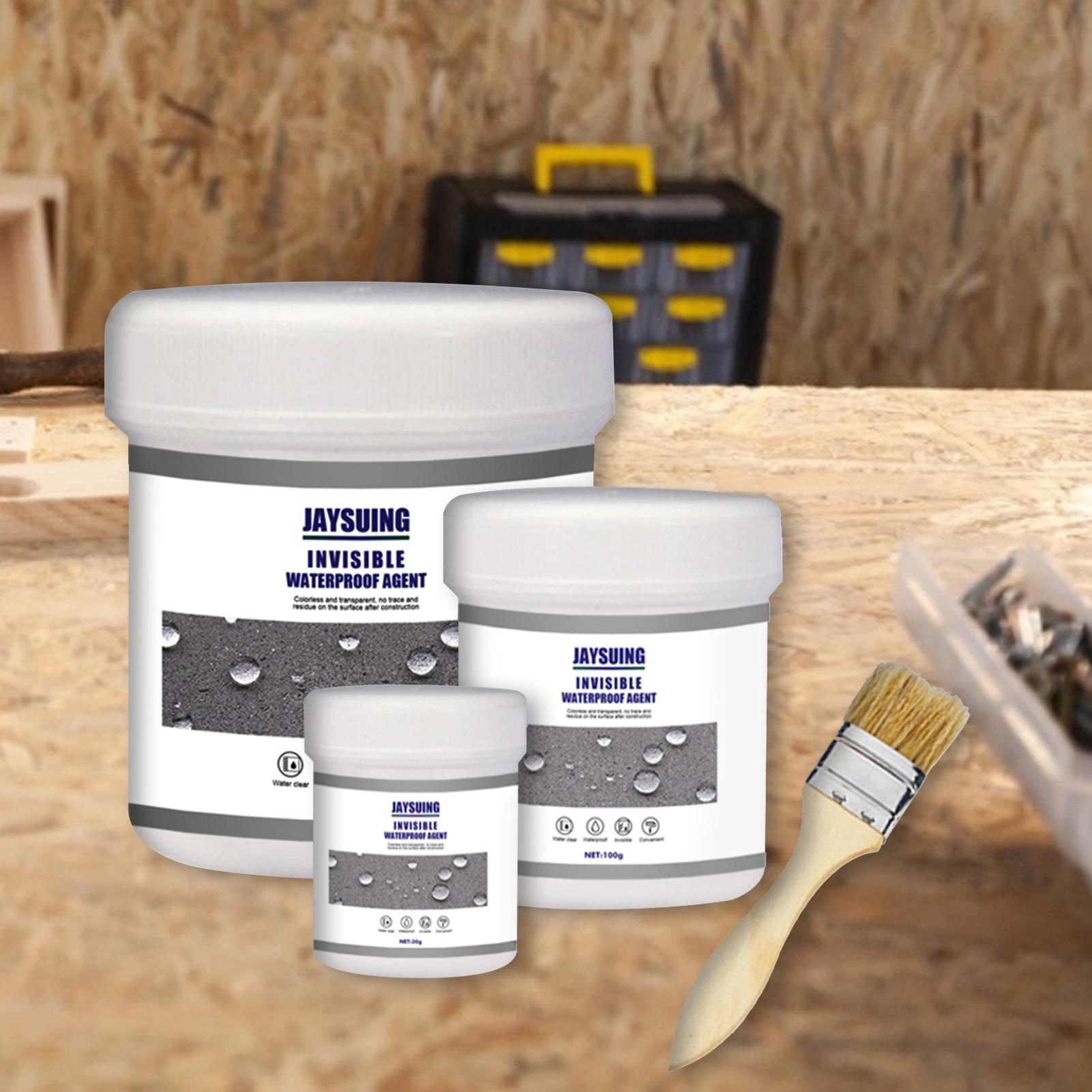 30g/100g/300g Waterproof Agent Toilet Permeable Nano Transparent Waterproof Adhesive Tile External Wall Roof Waterproof Agent