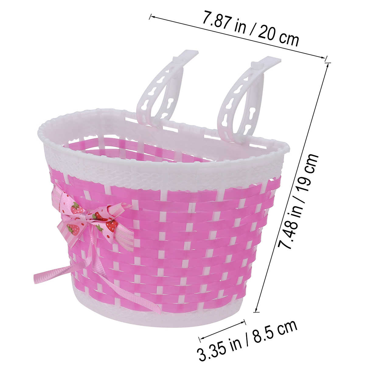 Girls Bike Front Basket Outdoor Children Lovely Knitted Bowknot Bicycle Basket