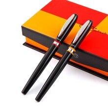 Frete grátis pimio 907 0.5mm iridium nib luxo suave metal caneta com caixa de presente original tinta canetas
