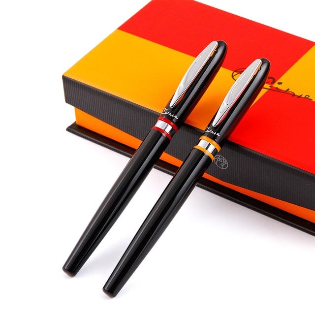 شحن مجاني Pimio 907 0.5 مللي متر إيريديوم بنك الاستثمار القومي الفاخرة السلس المعادن قلم حبر مع الأصلي هدية صندوق الحبر أقلام