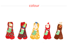 Christmas Explosion Coral Fleece Socks Cute Cartoon Doll Elk Home Floor Childrens Slip