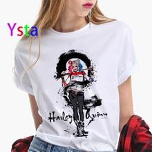 Funny Suicide Squad Joker Harley Quinn Graffiti t shirt women Casual Hipster Streetwear T shirt Hall