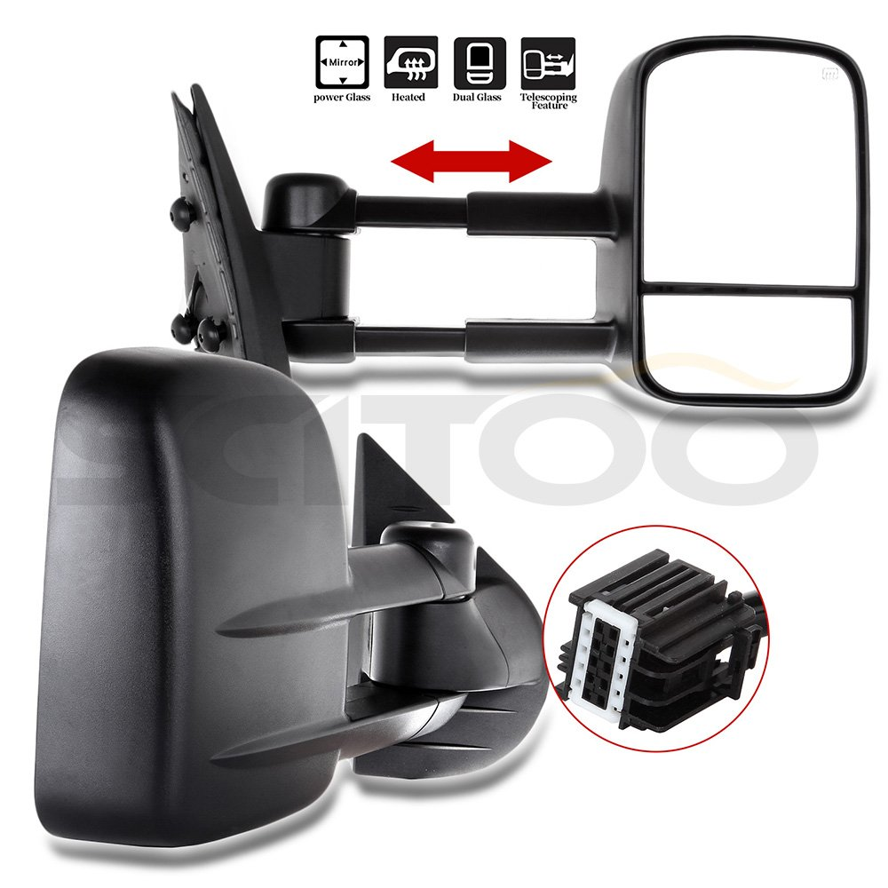 For 2007 2014 Chevy Gmc Truck Side Mirrors Power Heated Towing Mirrors L R Set Mirror Covers Aliexpress