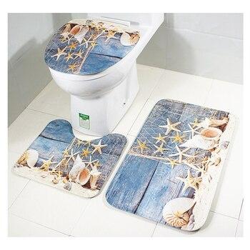 Conjunto De cubierta De Inodoro, decoración De inodoros, baño, Tampa De Vaso Sanitario, Tapis Toilette Copri Water