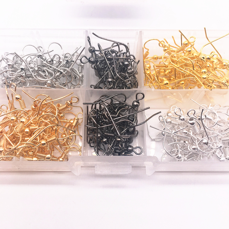 Wholesale 100PCS(50pair) Findings Earring Hook Coil Ear Wire DIY Jewelry Making