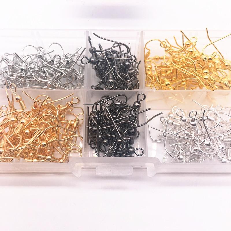 Оптовая продажа, 100 шт. (50 пар), фурнитура для изготовления сережек, крючков, проволоки для ушей, сделай сам