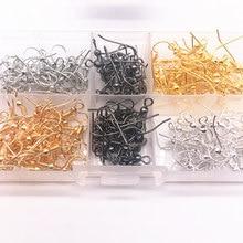 Wholesale 100PCS(50pair) Findings Earring Hook Coil Ear Wire DIY Jewelry Making