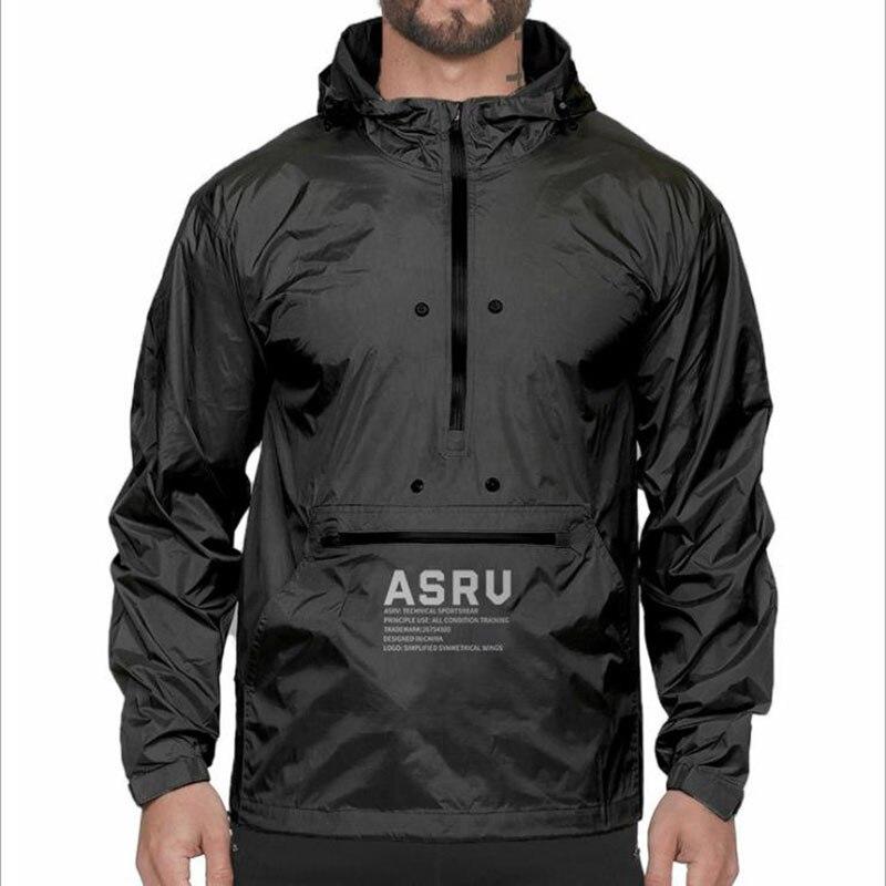 2020Spring And Autumn New Men'S Fashion  Sport Coat Windbreaker Men'S Thin Coat Hooded Casual Windproof Rain Jacket