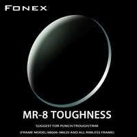FONEX 1.61 MR-8 Toughness Thinner Super-Tough Optical Lenses Aspheric Lens (Suggest for Punch/Trough/Trim)