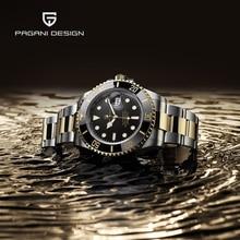 цена PAGANI DESIGN Mechanical Automatic Watch Men Top Brand Luxury Waterproof Sport Mens Watches NH35 Watches For Men reloj hombre онлайн в 2017 году