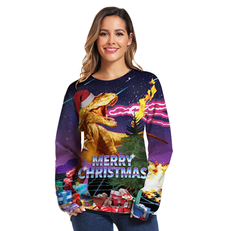 Merry Christmas Surfing Girl Mens Funny Hooded Sweatshirt Sweater