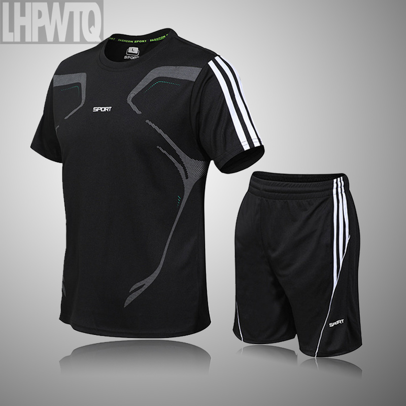 High Quality Loose Men's Sport Suits Quick Dry Running sets Clothes New Sports Joggers Training Gym Fitness Jogging Tracksuits 2