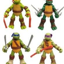 Anime Figures Turtles-Toy Leonardo Raphael Michelangelo PVC Model 12CM Donatello New