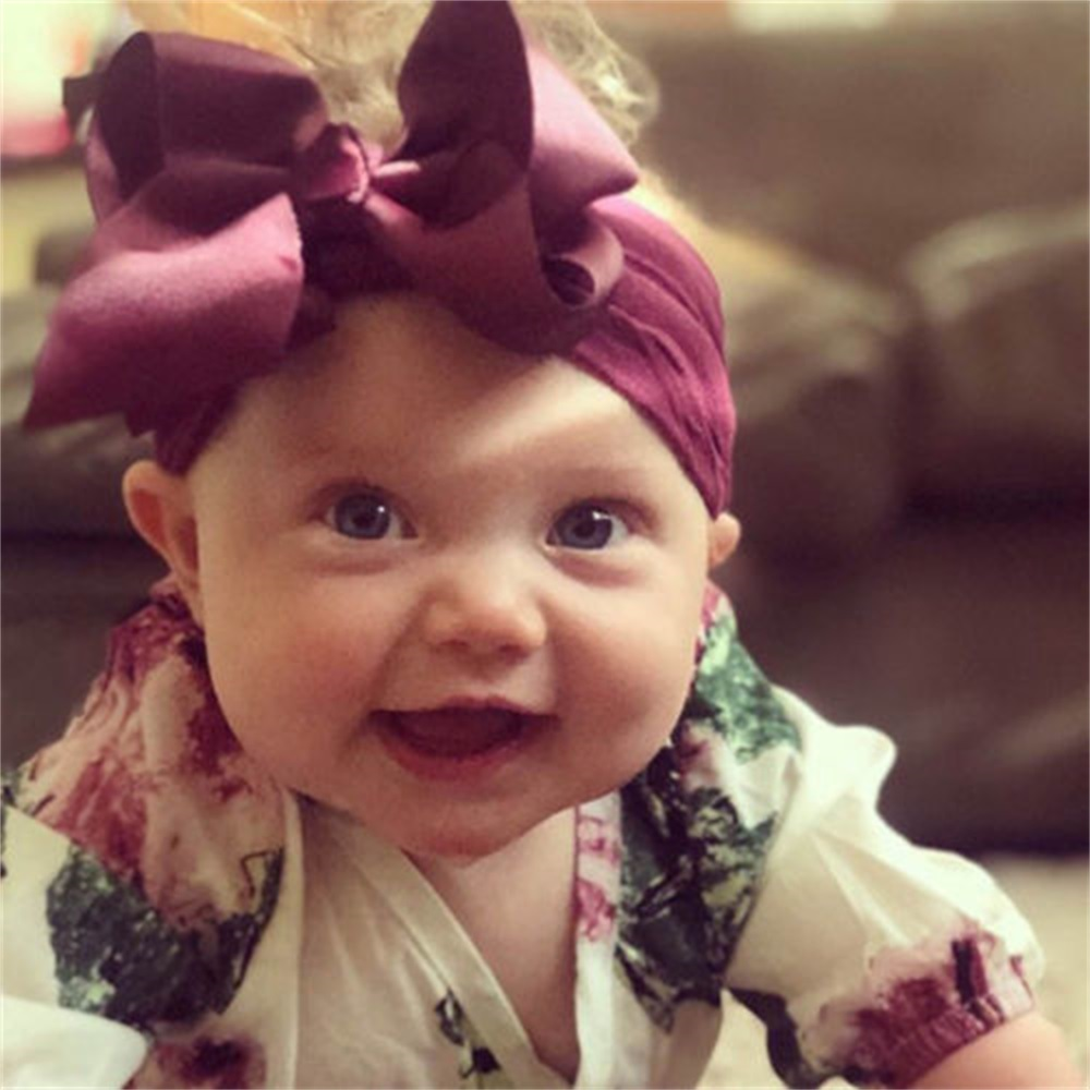 Newborn Bows Toddler Baby Girls Headband Baby Head Wrap Bandeau Bebe Fille Bow Knot Turban Headband Hair Accessories