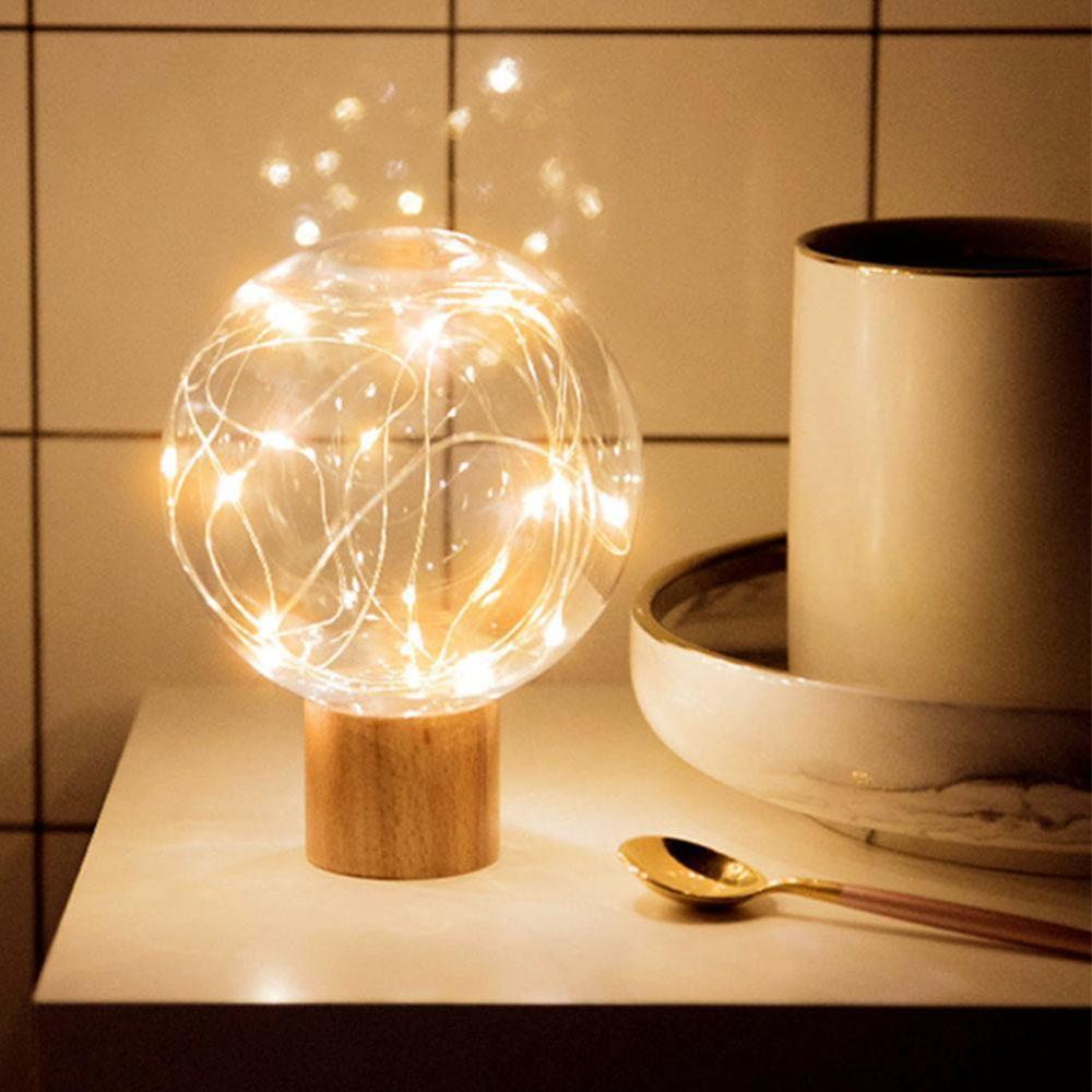 Creative Night Light Usb Maternal Led Wood Table Lamp Lunar Lamp Life Appliances Creative Wood Lamp Bedside Lamp