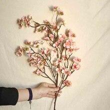 Künstliche Kirsche Pfirsich Blossom Gefälschte Seide Blume Hause Hochzeit Party Floral Decor Nordic Plum Blossom Simulation Blume Decorat