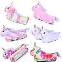Shoes Unicorn Slippers Animal Baby-Girls Winter New Warm Cartoon Soft Paw Flannel