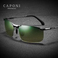 CAPONI Tag Und Nacht Sonnenbrille Männer Grün Gelb Gradienten Linsen Sport Brille Polarisierte Fahr männer Sonne GlassesUV400 RY3066