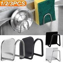 Küche Edelstahl Schwämme Halter Selbstklebende Waschbecken Schwämme Ablauf Trocknen Rack-Home Spüle Zubehör Lagerung Veranstalter