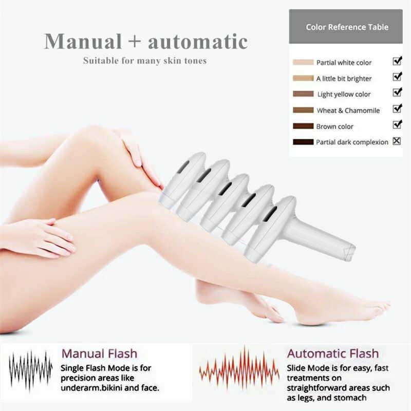Máquina de depilación láser flash IPL 990000, dispositivo de depilación láser, permanente, recortador de bikini, depilador láser para mujeres