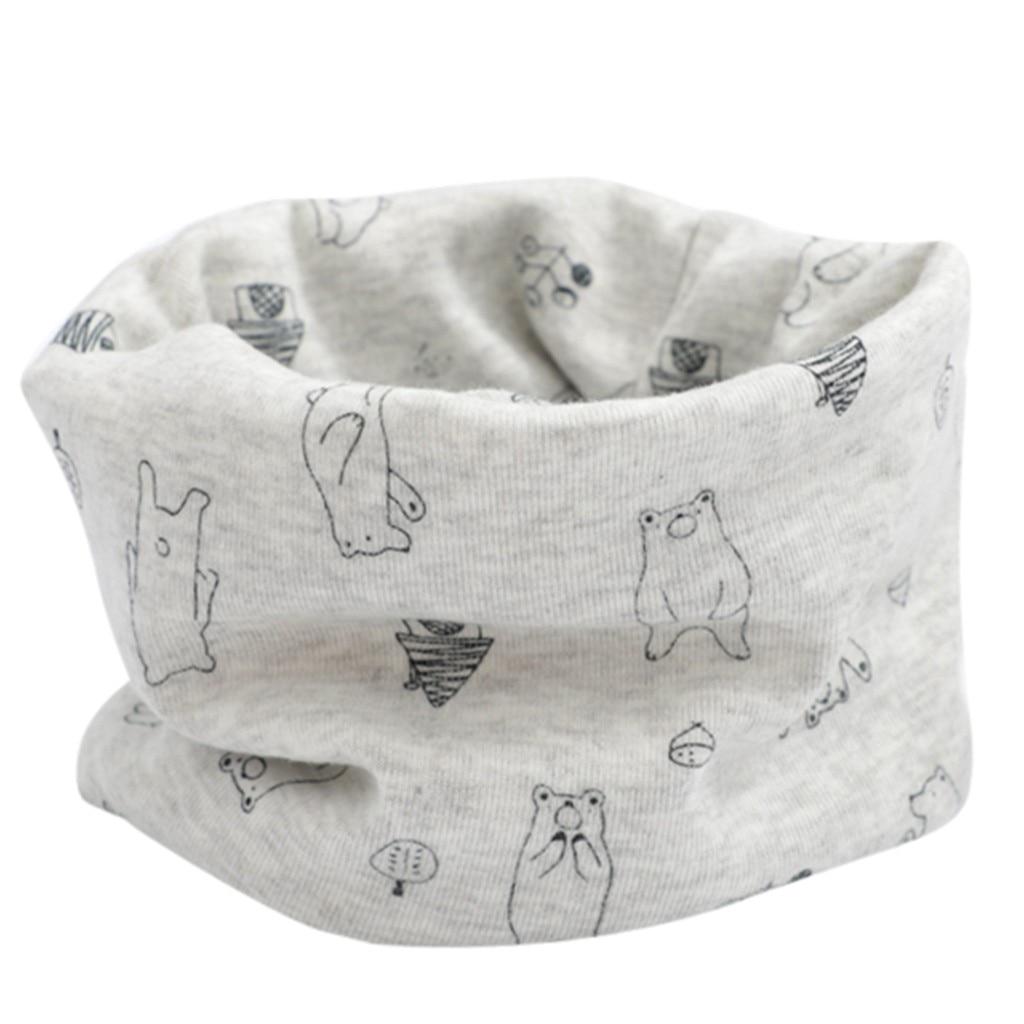 Huang Neeky #P501 2019 NEW FASHION Kid Girls Boys Cartoon Scarf Pattern Stitching O-ring Baby Scarf Neck Warmer Drop Shipping