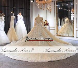 Image 4 - งานแต่งงาน 2020 แชมเปญหรูงานแต่งงานชุดยาวรถไฟดูไบ