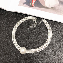 Clavicle Chain Female Short Section Neck Jewelry Neckband Collar Simple Fashion Personality Pearl Flash Drill Ins Necklace crystal tassel pendant necklace clavicle chain female freshwater pearl mermaid short necklace women neck jewelry collar neckband