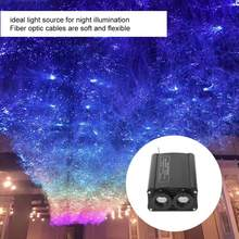 Fiber Optic Lampu 32W RGB LED Twinkle LED Serat Optik Langit-langit Bintang Kit Lampu dengan 28 Tombol Remote Controller(China)