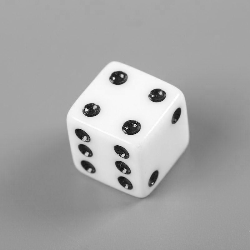 New 10 Pcs White Dice Playing Dices Set Six Sided Decider Die RPG Standard Gambling Games Pips Cube Funny Toy Tool High Quality