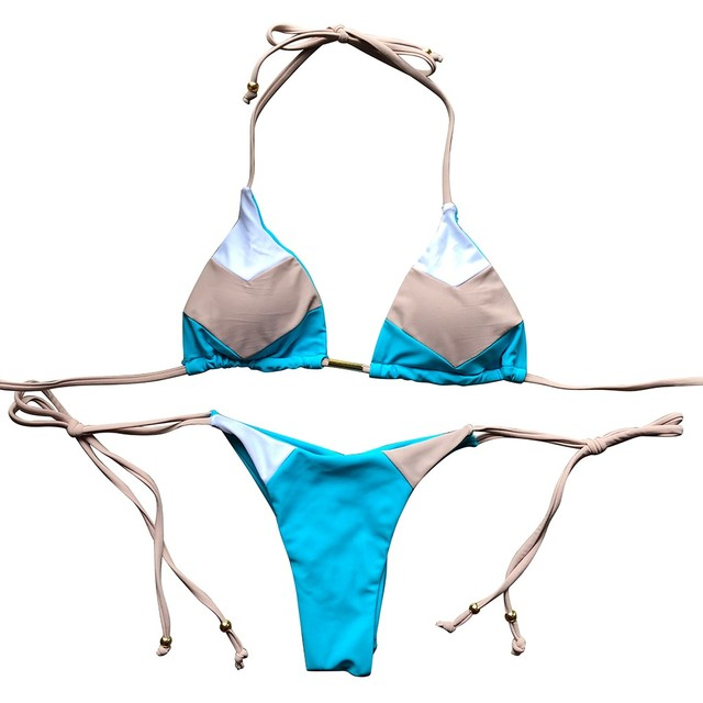 bikini Feshion Womens Sexy Bikini Set Stamp Sport Swimwear Push-Up Padded Swimsuit swimwear women tankini biquini