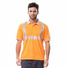 Hi Vis Orange Shirt Safety Reflective Polo Shirt For Men And Women