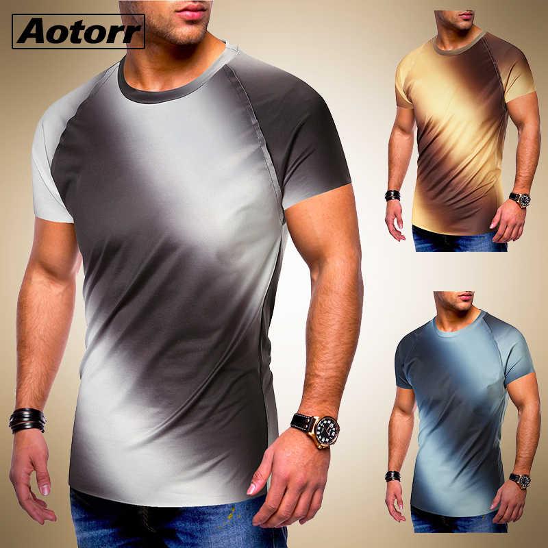 Summer Men/'s Slim Fit O Neck Short Sleeve Muscle Tee T-shirt Tops Shirts Leisure
