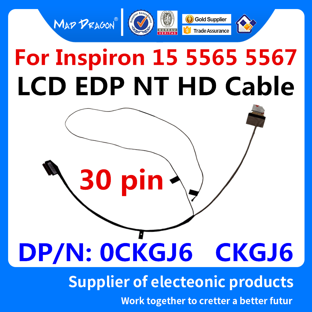 Cable de vídeo LCD para ordenador portátil, Cable LCD EDP NT HD original para Dell Inspiron 15, 5000, 5565, 5567, BAL20, 0CKGJ6, CKGJ6, DC02002I800