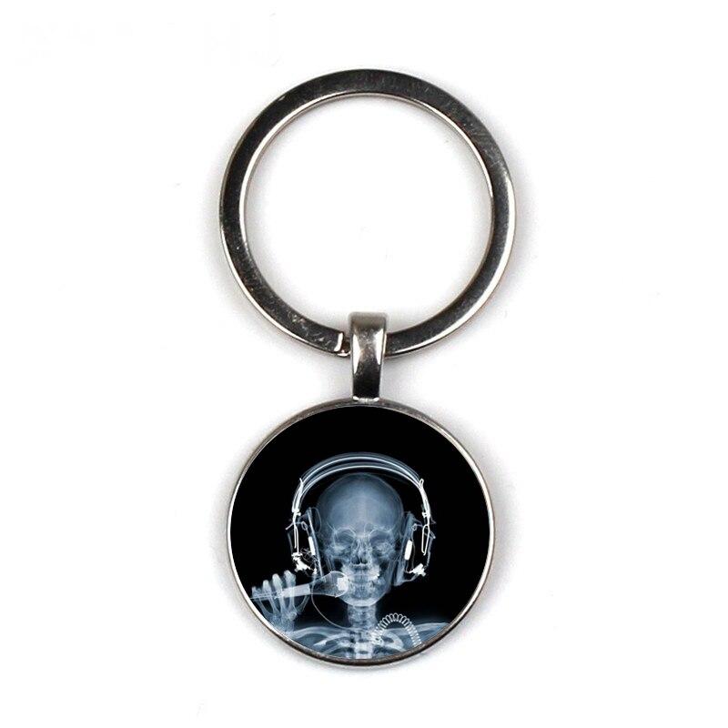 X-ray Film Keychain Doctor Nurse B-picture Keychain Jewelry Medical Keychain Hospital Propaganda Trinkets