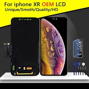 Image 1 - Sınıf AAA en kaliteli iPhone XR LCD orijinal hiçbir ölü piksel ekran 3D dokunmatik ekran montaj değiştirme ile Pantalla araçları