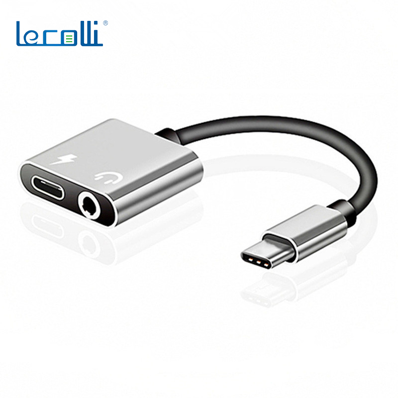 Android Phone Headset Adapter Type-C Headset Adapter Cable 2-In-1 Headset Audio Charging Adapter To 3.5mm Audio Cable