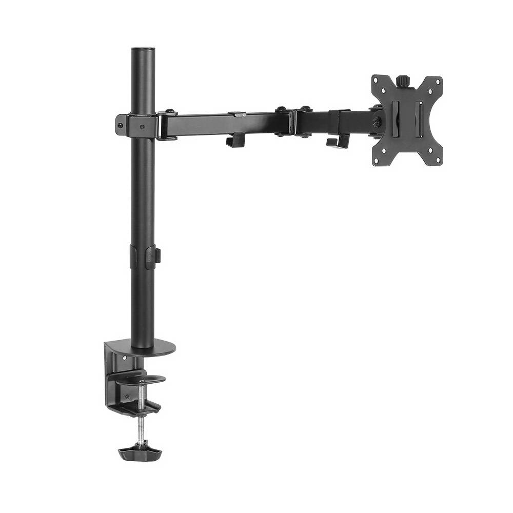 Single LED Monitor Arm Stand Display Bracket Holder LCD Screen Display With Adjustable Height And Detachable VESA Plate