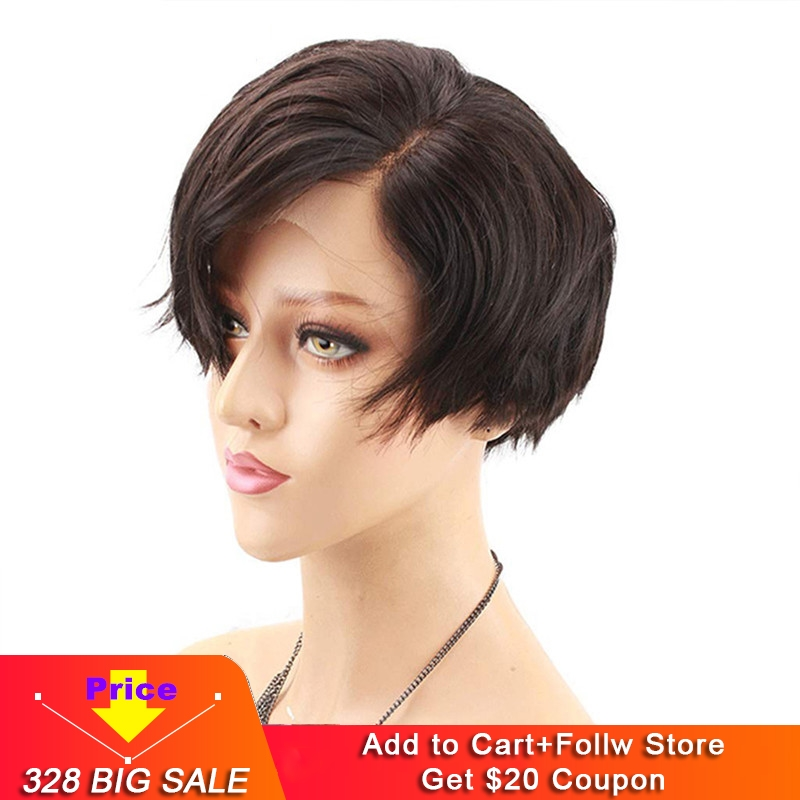 Eseewigs Short Bob 13x4 Lace Front Human Hair Wigs Side Part For White Women