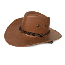 Klassische Cowboy Hüte Bergsteigen Vintage Outdoor Sonnencreme Helle Hüte Männer cheap ULGEN Unisex Faux-Leder Erwachsene Beiläufig Fest H20070801 Welcome