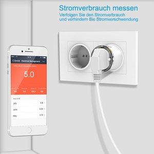 Image 2 - Wifi inteligentne gniazdo zasilania ue elektryczne gniazdka ścienne 10A czas głos bezprzewodowy pilot przez Tuya Smartlife Alexa Google Home