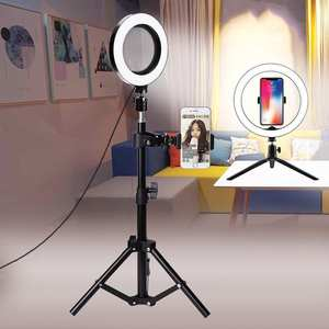 LED Light-Tripod Ring-Light Live-Photography Xiaomi Canon Selfie for iPhone Video Dimmable