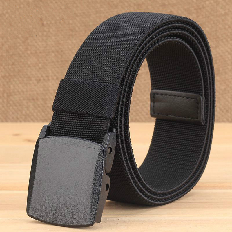 2020 New Metal Free Over Security Elastic Woven Men's Belt Suitable For Men's And Women's Jeans Casual Canvas Waistband Punk