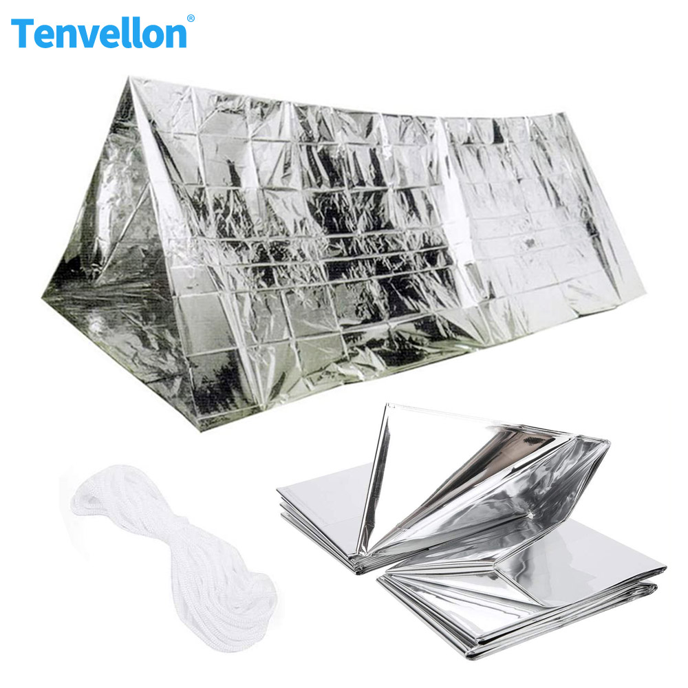 Camping Emergency Tent Waterproof Emergency Shelter Survival Rescue Blanket Foil Thermal Space First Aid Rescue Military Blanket