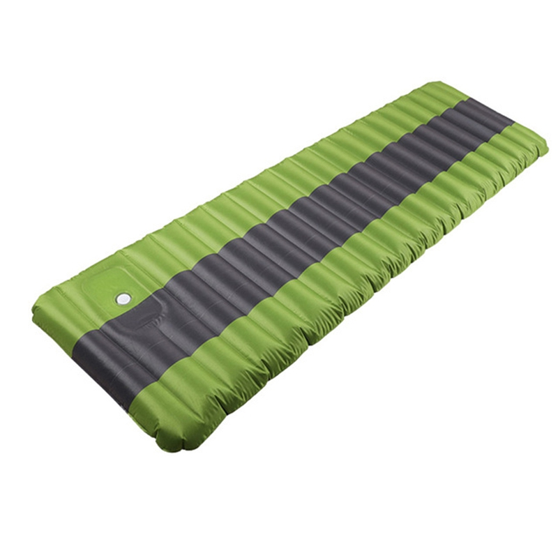 12Cm Air Mattress Tent Camping Inflatable Mattress Air Bed Waterproof Outdoor Camping Mat Ultralight Portable Sleeping Pad Green