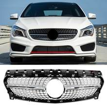 Diamant Stijl Voor Grill Grille Vervanging Deel Fit Voor Mercedes Benz Cla W-117 2015 2016 2017 2018 2019 Auto- styling(China)